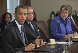 Barack Obama, Ray LaHood, Janet Napolitano