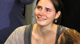 Amanda Knox at Seattle-Tacoma International Airport Oct. 4, 2011, in Seattle.