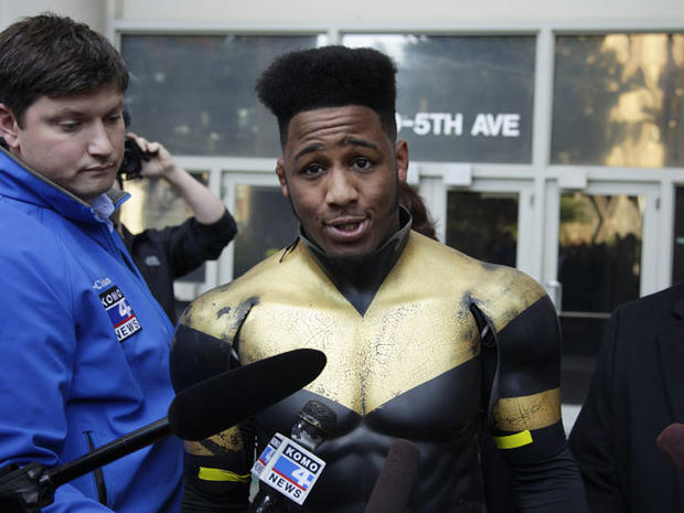 "Seattle ""superhero"" Phoenix Jones unmasked in court"
