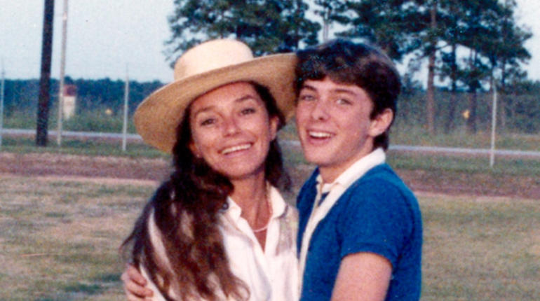 Natalie Antonetti and her son, Johnny Goudie