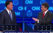 Romney, Perry spar over immigration; Perry booed
