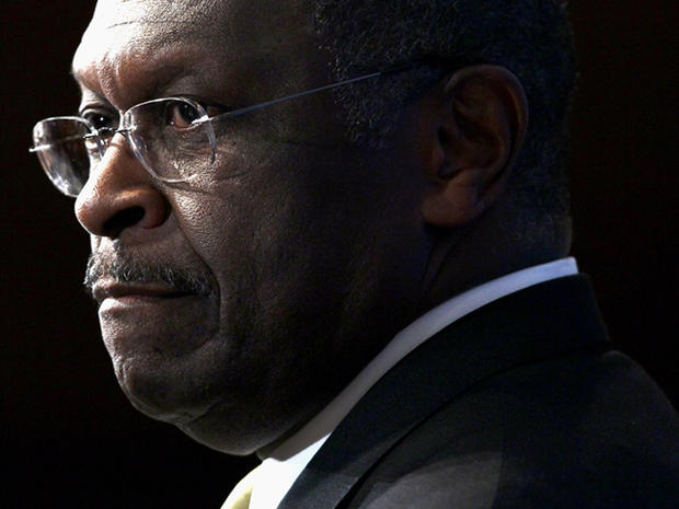 WASHINGTON, DC - OCTOBER 31: Republican Presidential candidate Herman Cain delivers remarks at The National Press Club October 31, 2011 in Washington, DC. Cain has denied accusations made in a report of sexual harassment while he was president of the National Restaurant Association. Cain is tied with former Massachusetts Governor Mitt Romney at the top of the Des Moines Register's recent survey of likely caucus-goers in Iowa.