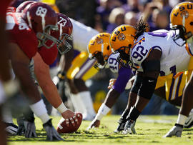 Louisiana State University Tigers play Alabama Crimson Tide