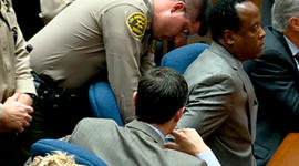 Conrad Murray getting handcuffed after quilty verdict