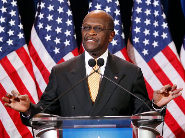 Republican Presidential candidate Herman Cain addresses the media Tuesday, Nov. 8, 2011, in Scottsdale, Ariz. Cain was responding to Sharon Bialek, a Chicago-area woman, who accused Cain on Monday, Nov. 7, 2011, of making an unwanted sexual advance against her in 1997.
