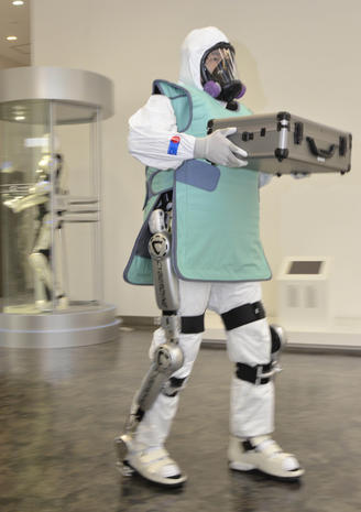 Robots with a decidedly human touch strut their stuff