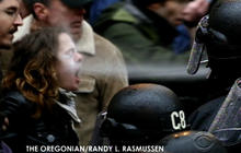 Occupy protesters face police pepper spray