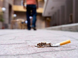 cigarette butt, ground, smoking, laws, stock, 4x3