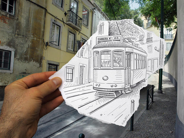 """""""Pencil Vs Camera"""" blends drawing and photography"""