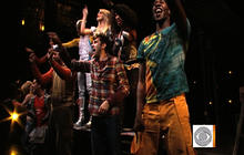 """Rent"" cast performs title tune"