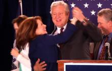 Bachmann and husband dance in Iowa