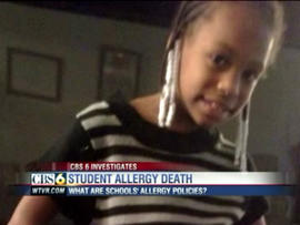 student allergy death