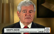 Gingrich goes on the offensive