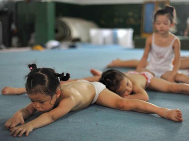 Sweat and tears: China's kid gymnasts