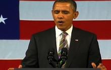 """Obama sings """"Let's Stay Together"""" at Apollo"""