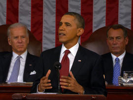President Obama during his 2012 State of the Union Address