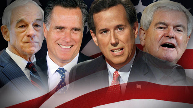 Colorado primary and the four GOP candidates, Newt Gingrich, Mitt Romney, Ron Paul and Rick Santorum