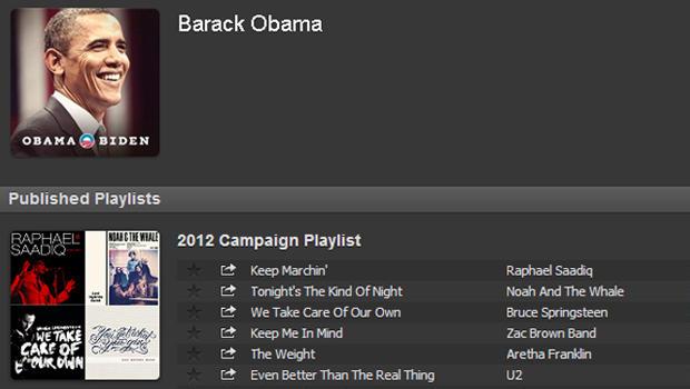 obama, spotify, playlist, 2012
