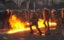 Violent protests over Greek austerity measures