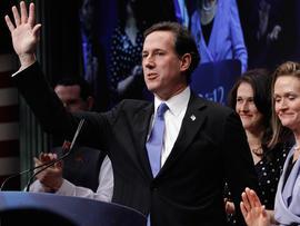 Republican presidential candidate and former U.S. Senator Rick Santorum