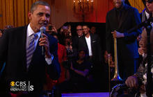 Obama sings the blues with B.B. King