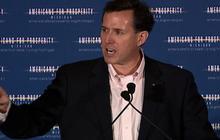 Santorum links food stamps to minorities, again