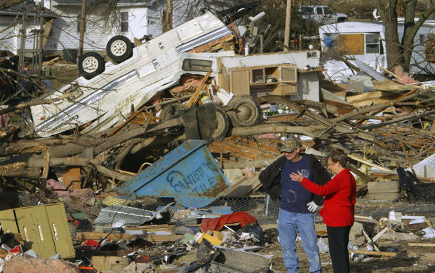 Violent storms ravage several states