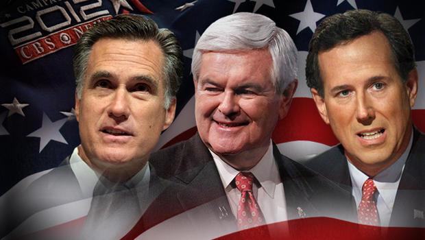 Super Tuesday - Mitt Romney, Rick Santorum and Newt Gingrich