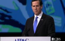 """Santorum at AIPAC: Obama """"turned his back"""" on Israel"""