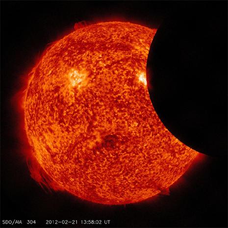 The Sun's spectacular light show