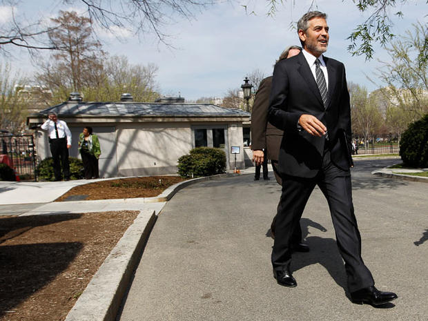 George Clooney arrested at Sudan embassy protest