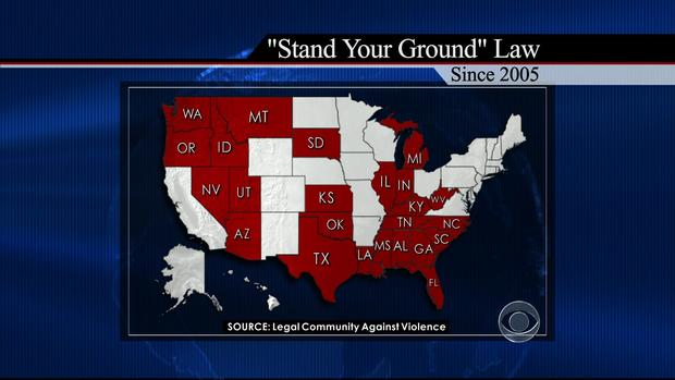 Stand Your Ground, map