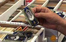 Collectors of baseball cards striking out