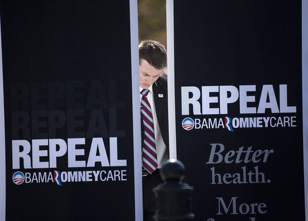 Scenes from the Supreme Court health care hearings