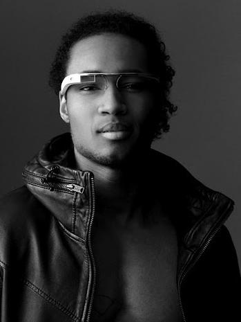 "Google's futuristic ""Project Glass"" eye wear"