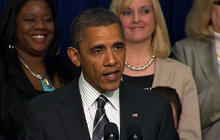 Obama attacks GOP on women's rights