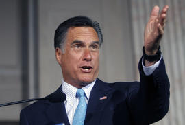 Mitt Romney speaks during the Tri-State Tax Day Tea Summit