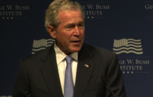 George W. Bush jokes good to come back to D.C. on occasion