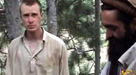 Bowe Bergdahl seen with one of his captors