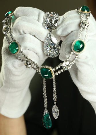 "Jewels from the ""Diamonds: A Jubilee Celebration"" exhibit"