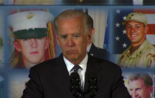 Biden shares tragic personal story with military families