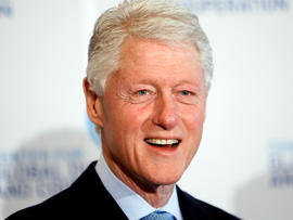 President Clinton attends the Center for Global Dialogue and Cooperation's annual meeting May 18, 2012, in Vienna.