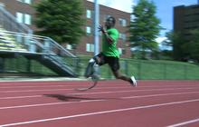 World's fastest amputee aims to set example