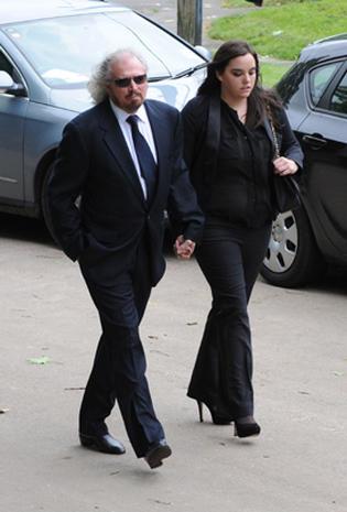 Robin Gibb's funeral