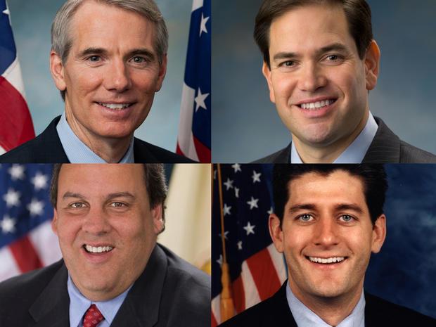 Sen. Rob Portman, Sen. Marco Rubio, Gov. Chris Christie and Rep. Paul Ryan