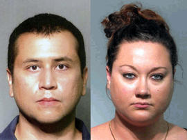 George Zimmerman and Shellie Zimmerman are seen in pictures released by the Seminole County Sheriff's Office.