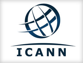 ICANN logo, Internet Corporation for Assigned Names and Numbers, graphic element on white
