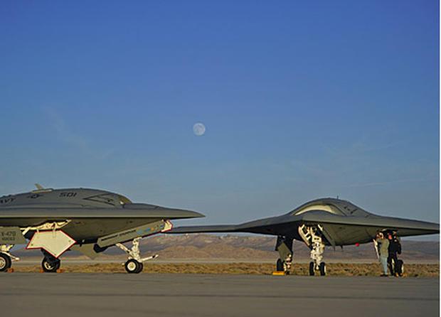 """X 47b At Night """"UFO"""" spotte..."""