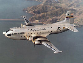 This image provided by the U.S. Air Force shows an undated photo of a C-124A Globemaster cargo aircraft similar to the plane that went down on the Colony Glacier in Alaska in 1952 killing all 52 people onboard.