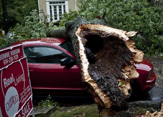 Violent Mid-Atlantic storms